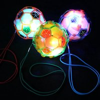 musikseil großhandel-Elektro-Tanzen Fußball mit Seil Glow Musik Jumping Ball-Kinder Flash-Spielzeug Bouncy Ball-Party-Bevorzugung RRA2359