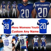 Wholesale customized football jerseys for sale - Group buy 2020 St Louis BattleHawks XFL Football Jerseys Garret Dooley Jersey Davon Grayson Keith Mumphery Alonzo Russell Terence Garvin Customized