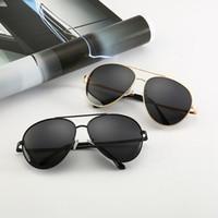 Wholesale mens sunglasses polarized lenses for sale - Group buy Classic Unisex Polarized Sunglasses Vintage Frog Mirror UV400 Protection Mens Driving Eyeglasses Woman Travel Beach Eyewear TTA1259