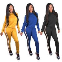 Wholesale cycling jersey set long sleeve women online - Brand Designer women sweat suit jogger Piece set Embroidery sweatshirt leggings sportswear pant tights hoodies tracksuit winter outfits