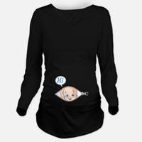 95eae0e66088d1 Incinta Blousing Abiti larghi Fit Confortevole maglietta di maternità Donna  incinta Top Magliette O-Collo Gravidanza Tee Shirts