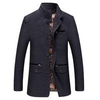 Wholesale men business parka for sale - Group buy Big Size Men Casual Long Jacket Spring Autumn Male Thin Stand Collar Windbreak Outwear Parka Coat Business Varsity Overcoat