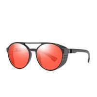 круглые солнцезащитные очки мужское цветное зеркало оптовых-Xinfeite Солнцезащитные Очки Ретро Стимпанк Круглый Цвет Покрытия Зеркало Uv400 Открытый Солнцезащитные Очки Ночного Видения Очки Для Мужчин Женщин X524