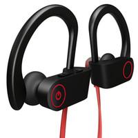 micrófono auricular para iphone al por mayor-U8 Bluetooth Auriculares Deportes Wireless Headset auriculares setero Q6 Sweatproof auricular con el Mic para el iPhone XR