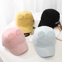 Wholesale korean hat for baby for sale - Group buy New Korean version cap for children Baby spring summer rabbit ears baseball cap Outdoor sun hat for boys girls