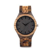 kuvars movt saatler toptan satış-BOBO KUŞ Ahşap İzle Erkekler relogio masculino Timepieces Japonya Movt 2035 Kuvars Saatler Bırak için Özel
