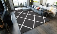 Wholesale floor table chair resale online - Nordic Simple Geometric Pattern Rugs Carpets For Living Room Bedroom Area Rugs Gray White Sofa Table Chair Anti Slip Floor Mats