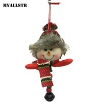 ingrosso bambole dell'hotel-Claus Tree Santa Multicolor Snowman Decorations Hanging Ornaments Christmas Home Dolls Cloth Hotel Natale Natale