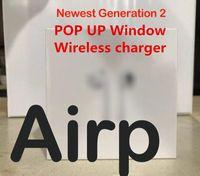 fone de ouvido da bateria do bluetooth venda por atacado-Os mais recentes cobrando qualidade fones de ouvido fone de ouvido Bluetooth som Top Generation Air 2 sem fio Bestcopy Com Sensor Bateria Mostrar PK Airp2 Headphones