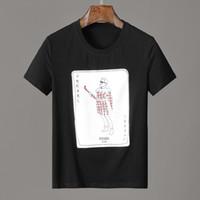 remendos da camisa dos homens venda por atacado-19ss roma ff logotipo remendo dos homens t-shirt marcas hip hop t-shirt dos homens do inverno de manga curta 100% algodão poloshirt shirt mulheres hip 3g mens t camisa