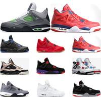 serin yeni basketbol ayakkabıları toptan satış-Yeni basketbol ayakkabıları 4 s Nero FIBA NEDİR Serin gri bred SILT KıRMıZı SAF PARA KANATLARı 4 erkek spor sneakers traienrs boyutu 7-13