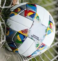 premier league de fútbol al por mayor-De calidad superior Nueva UEFA bola Europea de Fútbol Partido resistente al desgaste grueso de la PU de regalo bola de aguja bolsa de red size5