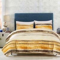 ropa de cama reina amarilla al por mayor-Sanding Impreso Beddingset Queen King Size Reino Unido Tamaño Yellow Beddingset 3 PCS (1 Funda nórdica + 2 fundas de almohada) Trajes de ropa de cama
