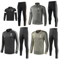 reißverschluss s großhandel-Juventus Fußball Jacke Trainingsanzug 2018-19 RONALDO DYBALA Jacken Kit Juve Full Zipper Fußball Jacke Sweater Trainingsanzug