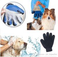 ingrosso pettine di guanti-20pcs Pet Guanto Guanto Spazzola per cani Pettine Per Pet Grooming Guanto per cani Pulizia Massaggiatore Fornitura per la pulizia degli animali Finger Cat Guanti per capelli