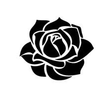 schöne blaue blumen großhandel-Schöne Rose Blume Vinyl Aufkleber Zubehör Motorrad Helm Auto Styling Autoaufkleber