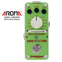 aluminium-effektpedal groihandel-AROMA AMS-3 Loop-Gitarrenpedal Looper E-Gitarren-Effektpedal True Bypass Unlimited Overdubs Gitarre Bass Aluminiumlegierung