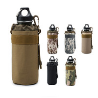 Wholesale hiking water holder for sale - Group buy Outdoor sports water bottle bag sleeve portable camouflage tactical mount packs mountain bike cycling cup kettle holder bags LJJZ477