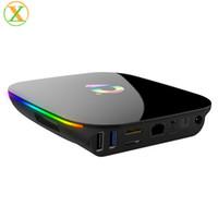 receptor de satélite biss al por mayor-Buen precio Android TV Box Q más allwinner H6 Android Smart TV Box Quad Core Android Smart Media Player
