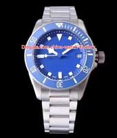 Wholesale best titanium bracelets online - 2 Style Best Quality Luxury mm TB TN Titanium Bracelet Ceramic Beze Swiss ETA Movement Automatic Mens Watch Watches