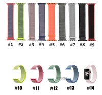 Wholesale fabric wrist watch band for sale - Group buy Sport woven nylon loop strap for apple watch band wrist braclet belt fabric like nylon band for Iwatch series
