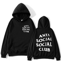 Wholesale sport sweat resale online - dh6gE ANTI SOCIAL lettered printed hooded sweater lovers loose sports ANTI SOCIAL CLUB lettered printed hooded sweater lovers Club Sweat s