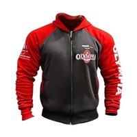 olímpicos camisa homens venda por atacado-Outono Com Capuz Zipper Camisa dos homens Uniforme de Treinamento Olímpico de Fitness Esporte Side Stripe Jacket Moda Correspondência de Roupas de Proteção de Cor