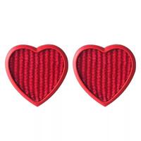 diseños del clavo de los corazones al por mayor-925 Ear Needle Sweet and Lovely Girl Corazón Rojo Melocotón Corazón Ear Ear Nail Ear Drop Acero Earri Steel Pendientes Diseño Pendientes de moda
