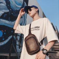 nuevos bolsos coreanos al por mayor-marea bolsa pequeña bolsa en el pecho de los hombres coreanos de los nuevos hombres retro monedero