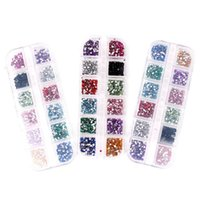 ingrosso chiodi la scatola d'arte-Nail Sticker Manicure Articoli Manicure Trapano 12 colori Acrilico Boxed Accessori per unghie Nail Art Strass Decorazioni Resina