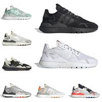 promo code 07a74 71e75 2019 adidas nite jogger boost 3 m chaussures de course réfléchissantes pour  hommes femmes top qualité triple noir blanc respirant mens formateur mode  sport ...