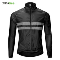 Wholesale cycling visibility for sale - Group buy Cycling Windbreaker High Visibility Bicycle Jersey Road MTB Rain Coat Reflective Cycle Clothing Windproof Waterproof Bike Jacket
