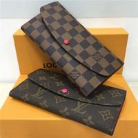 Wholesale fashion star handbags resale online - luxury wallet designer wallet womens designer handbags purses clutch wallets leather designer purse card holder bags with box