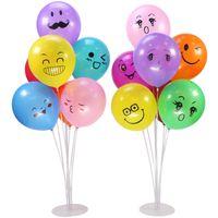 parti dekorasyonları için balonlar toptan satış-7 Tüpler 70 CM Balonlar Standı Tutucu Sütun Temizle Plastik Balon Sopa Doğum Günü Partisi Dekorasyon Çocuklar Düğün Balonlar Dekor