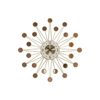 wanduhren großhandel-Nordic Schmiedeeisen 3D Sterne Wanduhren Handwerk Dekoration Zuhause Wohnzimmer Atmosphäre Luxus Kunst Quarzuhren Stumm Wandbild R2253
