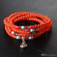 Wholesale glasses bangle for sale - Group buy Bracelet Bangle for Women Charm Manmade Colorful colored bracelet Crystal Glass Rhinestone Flower Bead Bracelets