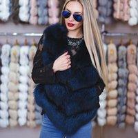 colete da senhora da raposa venda por atacado-Real Fur Vest Mulheres Winter Fashion Gilet Lady Whole Natural pele de raposa Coletes qualidade Top Roupas Femininas 2018 Colete Streetwear