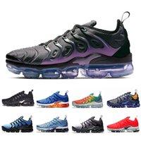 kadınlar için siyah iş ayakkabıları toptan satış-Bumblebee Megatron Siyah Volt TN Artı Kadın Erkek Koşu Ayakkabıları Firecracke Çalışma Mavi Zebra Kurt Gri ÜÇLÜ SIYAH Tasarımcıları Spor Sneakers