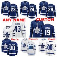 kadri mayo toptan satış-Toronto Maple Leafs Formalar Nazem Kadri Forması Kasperi Kapanen William Nylander Nic Petan Travis Dermott Buz Hokeyi Formaları Özel Dikişli
