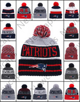 Wholesale New England Sport Winter Hats Patriots Stitched Team Logo Brand Warm Men Women Hot Sale Knitted Caps Cheap Mixed Beanies