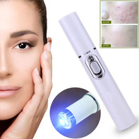 шрам от прыщей оптовых-Acne  Portable Wrinkle Removal Machine Durable Soft Scar Remover Blue Light Therapy Pen Massage spider vein Eraser