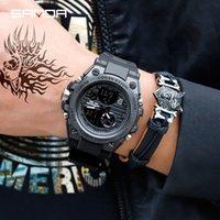 цифровые часы для дайвинга оптовых-САНДА Моды для Мужчин Спортивные Часы Профессиональные Мужские Цифровые СВЕТОДИОДНЫЕ Армия Dive Часы Повседневная Электроника Relojes Оптовая Кварцевые Наручные Часы