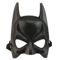 ingrosso uomini del costume del batman-Nuovo Halloween Dark Knight Adult Masquerade Party Batman Bat Man Maschera Costume di carnevale Dressing Mezza maschera per l'uomo faccia fredda
