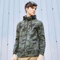 abrigo chaqueta militar prendas de vestir exteriores al por mayor-Nuevos Hombres Chaqueta de camuflaje Abrigo Hombres Ropa de marca Ropa de abrigo de moda Masculina de calidad superior Venta caliente Stretch Military Coat Plus Size 3xl