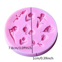 Wholesale 3d rose soap mold resale online - 3D Food grade Silicone Mold Rose Flower Silicone soap Mold Fondant Decorating Cake Chocolate Candy Jello Kitchen Baking Mold
