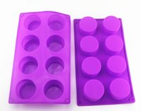Wholesale silicone soap forms for sale - Group buy 8 Lattice Round Form Cake Chocolate Silicone Mold Soap Jelly Muffin Cupcake Moulds Cake Decorating Tools DIY Baking Pastry Tools SN3082