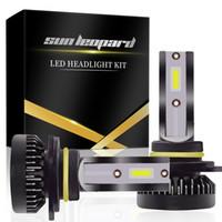 Wholesale headlamps bulbs online - 2019 PCSLED L M PAIR Mini Car Headlight Bulbs H1 LED H7 H8 H9 H11 Headlamps Kit HB3 HB4 LED Lamps