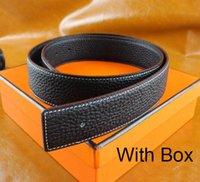 ingrosso cinture designer h-Designer di lusso per uomo e donna Cintura con fibbia moda in vera pelle H Top Designer Cinture di lusso di alta qualità con scatola