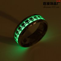 Wholesale game jewelry resale online - Cross border special for night light punisher games surrounding rings European and American fashion jewelry