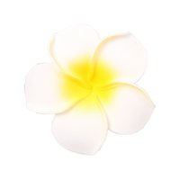 Wholesale frangipani artificial flowers for sale - Group buy 50x Artificial Foam Frangipani Flower Headwear DIY Prop Wedding Home Decor